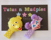 Abby Cadabby and Big Bird Hair Clip Set