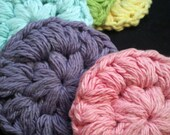 Spring Pastels - Crochet Facial Scrubbies, Cotton Rounds, 100% Cotton