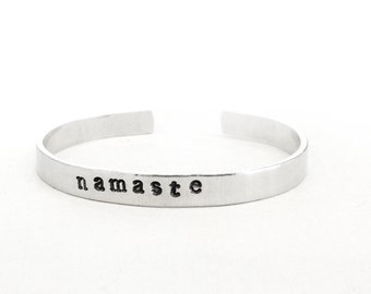 namaste bracelet - yoga meditation jewelry