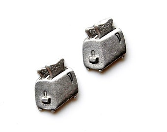 Toaster Cufflinks - Gifts for Men - Anniversary Gift - Handmade - Gift Box Included
