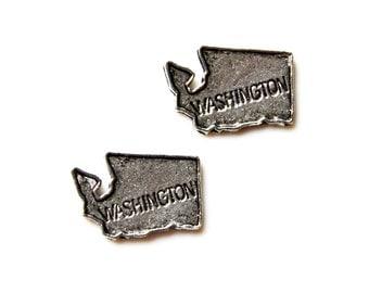 Washington State Cufflinks - Gifts for Men - Anniversary Gift - Handmade - Gift Box Included