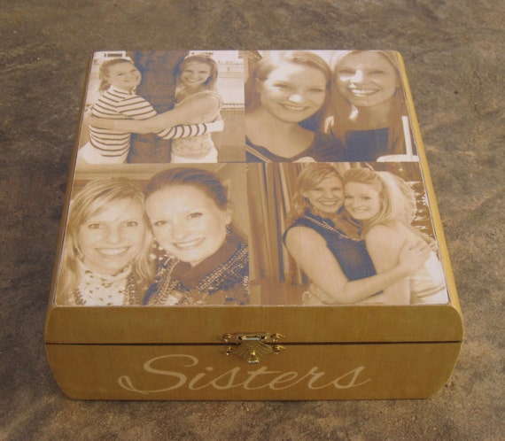 Unusual Wedding Gift For Sister : ... Sister Gift, Custom Bridesmaid Memory Box, Unique Wedding Gift, Bridal