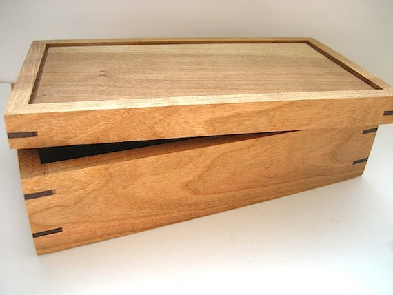 handmade wooden keepsake boxes items similar to wooden box solid cherry and walnut 3726