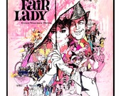"My Fair Lady - Home Theater Decor - Classic Movie Poster Print  13""x19"" - Vintage Movie Poster - Broadway Musical - Audrey Hepburn"