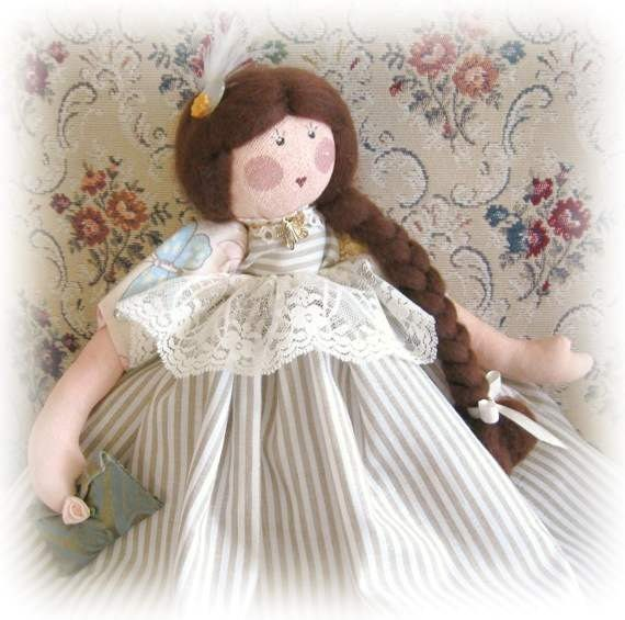 Art Doll Soft Sculpture Doll Cloth Doll AUDRA GRACE 16 inch Ooak S Handmade Handcrafted CharlotteStyle SIGNED