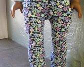 "American Girl Doll Down Main Street Blue Floral Jeans for 18"" Doll"