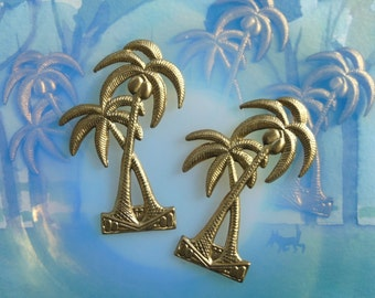 Coconut Palm Tree Charm (2 pc)