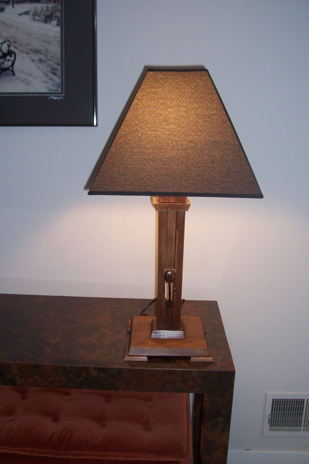 arts and crafts table lamp adjustable by artcraftfurnishings. Black Bedroom Furniture Sets. Home Design Ideas