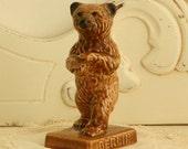Goebel Ceramic Brown Bear - Vintage Bear - Vintage Goebel Collectible - Vintage Home Decor - Cabin Decor -