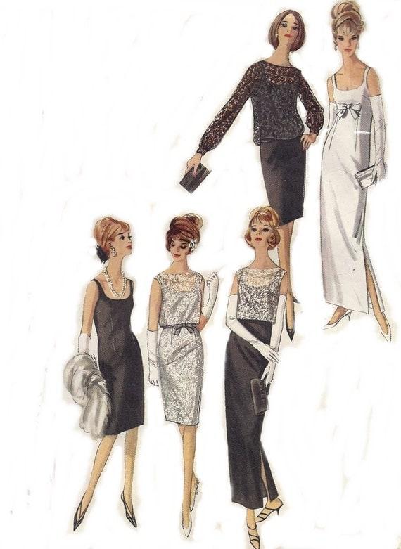 60s Evening Dress Simplicity Pattern 5698 by AnnesVintagePatterns
