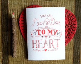 Near and Dear to My Heart - Card