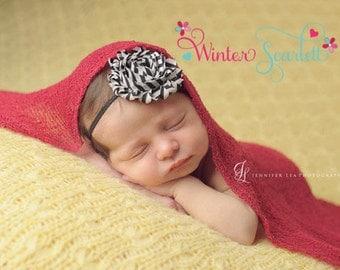 Baby headband, Black & White Stripe Headband, baby headband, newborn headband, baby girl headbands