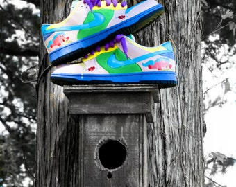 "Hand Painted Nike Dunk Low ""Project X Pony"" Custom Sneakers"