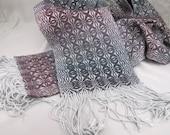 Honeysuckle Overshot Woven Scarf - Weaving Draft (Pattern)