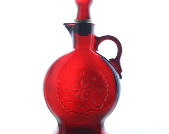 Wheaton Ruby red decanter