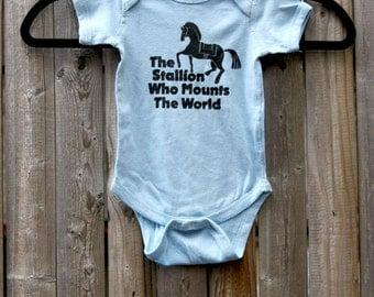 Game of Thrones // Dothraki Onesie  // The Stallion Who Mounts the World