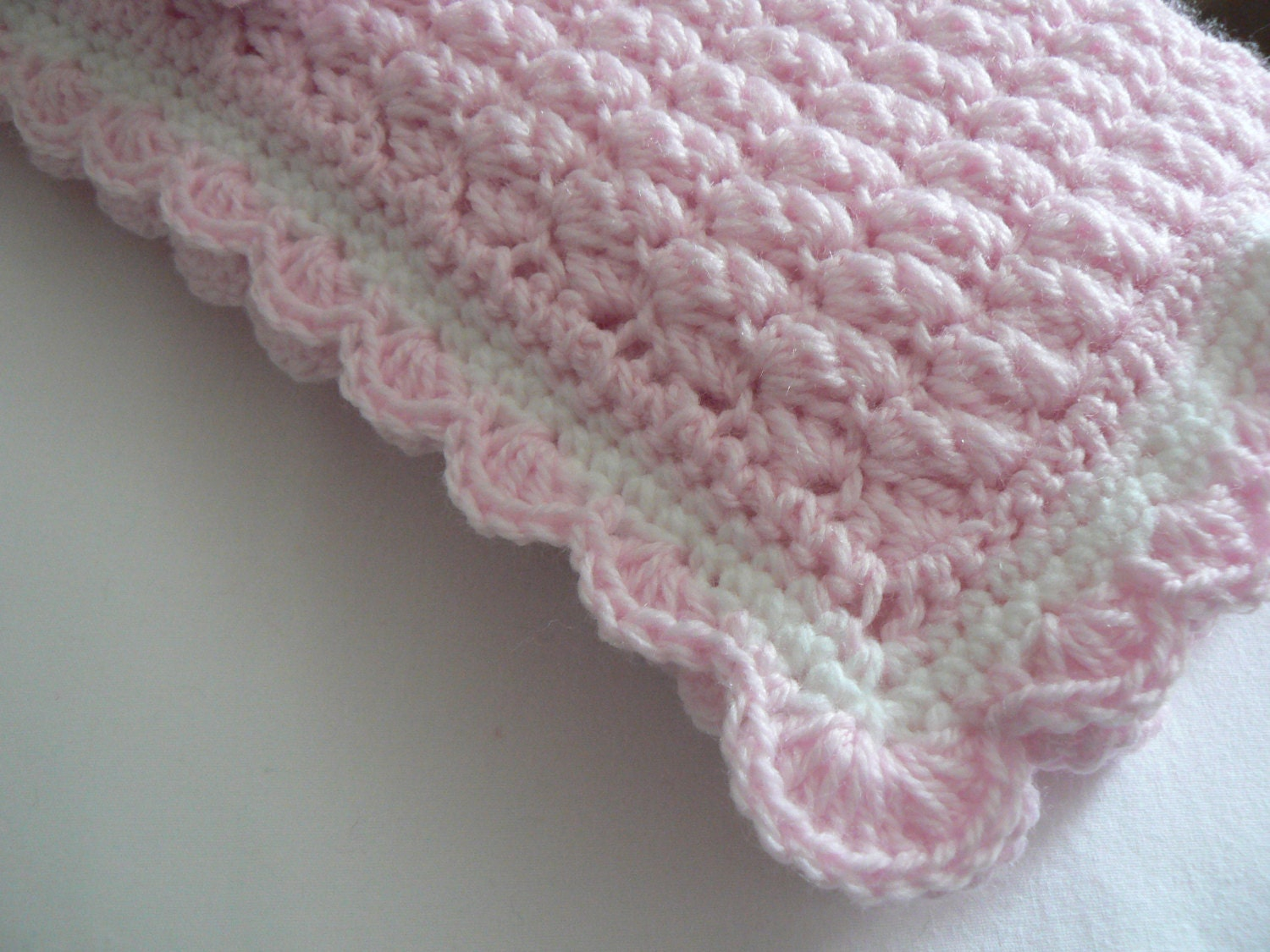 X Stitch Crochet Baby Blanket Pattern : Crochet Pattern Baby Blanket Angel Wings Stitch Easy Crochet