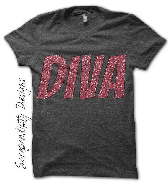 Diva Iron on Transfer - Girls Iron on Shirt PDF / Kids Girls Clothing / Diva Iron on Patch / Tween Girl Clothes / DIY Tshirt Iron on IT147-C