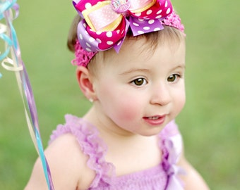 Hairbows, Hair Bow, 1st Birthday Bow, First Birthday Hairbow, Happy Birthday Bow, Bows, Hairbows, Hair Bows