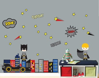 Ordinaire REUSABLE SUPERHERO Wall Decal   Childrens Wall Decal   SK326Swa