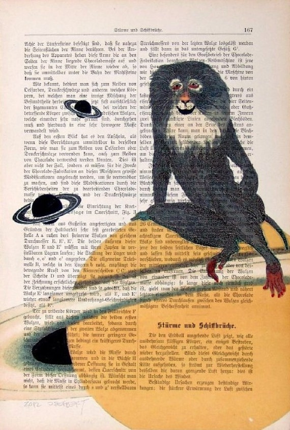 Planet Of The Apes mixed media  painting print poster