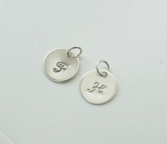 Add an initial to any necklace or bracelet, personalized jewelry, personalized initial charm