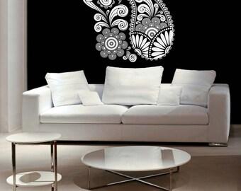 Paisley Art, Swirl Decal, Paisley Wall Decal, Floral Decor, Scrolls, Paisley Wall Art, Home Decor, Office Decor, Unique Decor, Wall Decor