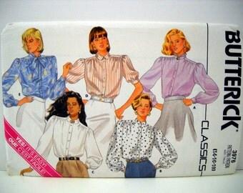 80s Butterick  3976 - Misses Loose Blouse