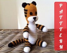 PDF pattern Harold the tiger plush doll crochet amigurumi ( inspired by Calvin and Hobbes ) instant download