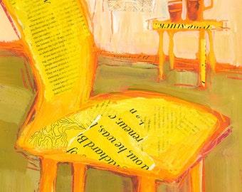 Yellow Chair Original Painting