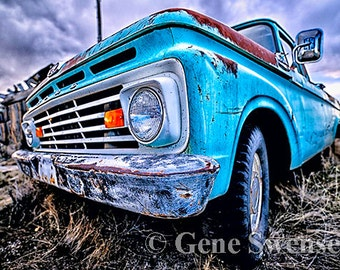 Rustic Old Truck - Cisco, Utah - Ghost Town -  Available Sizes (5x7) (8x12) (12x18) (16x24) (20x30) (24x36)