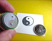 Yin Yang Rubber Stamp Yin Yang Symbols Opposing Energies of the Universe Sale MED