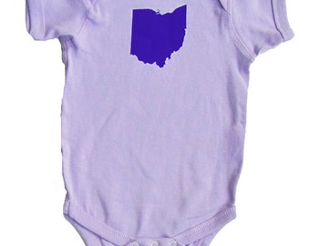 Baby One-Piece - Ohio State (Purple on Lilac)