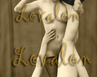 MATURE... Love Slave... Instant Digital Download... 1930's Vintage Nude Fetish Photo Image by Lovalon