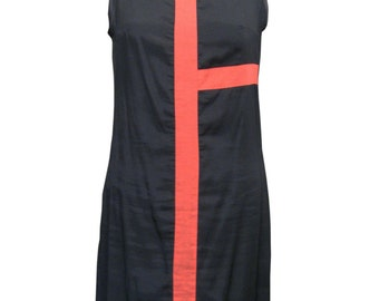 Geometric Mondrian Dress, Little Black Dress, Plus Size Dress, Mini Dress, Mod Dress, Shift Dress, Designers Dress, 60s Fashion