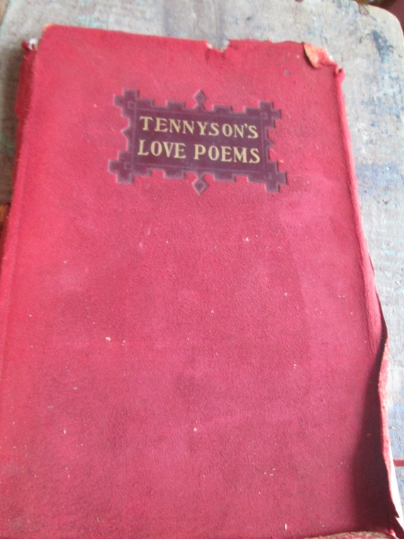 Antique 1907 Tennyson Love Poems Book by AppalachianRevival