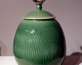 ON RESERVE -- Porcelain Lidded jar for Wendy