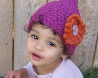 Pixie Point Hat CROCHET PATTERN instant download - elf gnome beanie