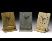 slate desk clock with a minimal design, great gift for your office friends
