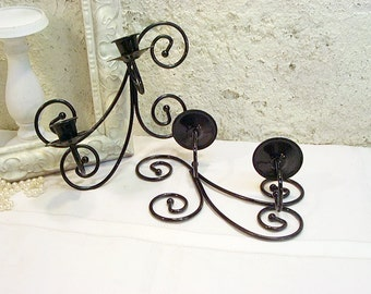 Vintage Metal Satin Black Sconces Paris Chic Upcycled Painted Home Decor Home Interiors