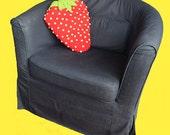 Strawberry Pillow Crochet Pattern, Strawberry Crochet Pattern, Large Amigurumi Strawberry Pattern, Shaped Pillow Crochet Pattern, DIY