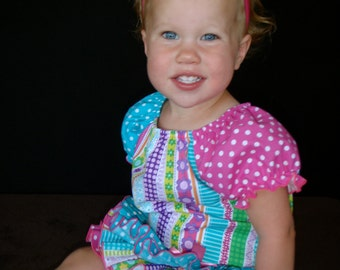 Parley Ray Summer Flurry Polk a Dot All Around Ruffle Skirt Girl Ruffled Bloomers/ Diaper Cover