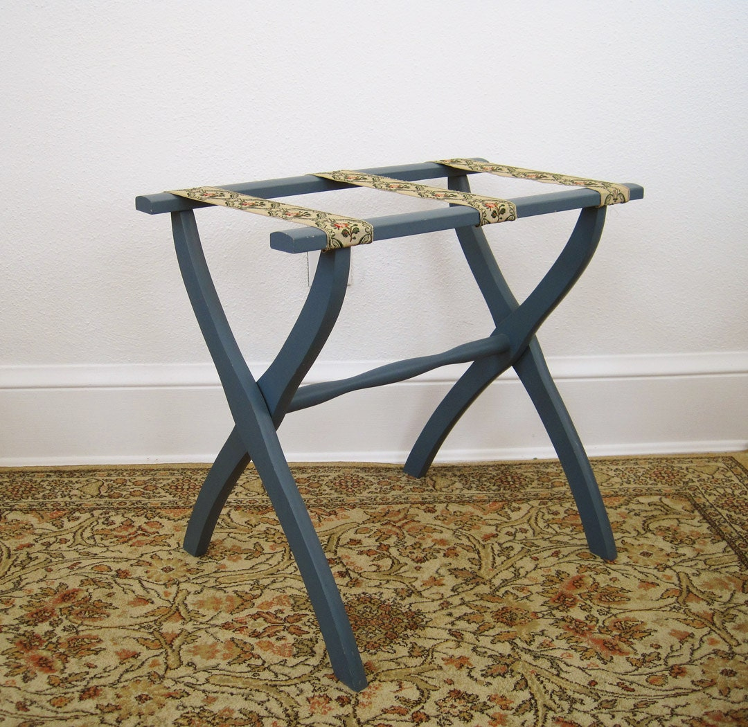 Vintage Scheibe Luggage Stand Luggage Rack Serving Tray