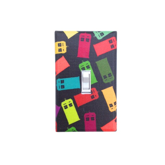 Items similar to tardis doctor who light switch plate for Tardis light switch cover