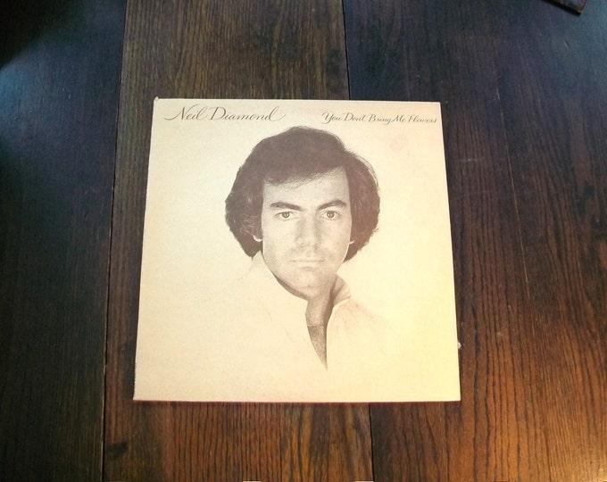 Neil Diamond You Don't Bring Me Flowers Record Album 1978 Vintage Vinyl