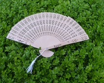 Personalized Wooden Hand Fan