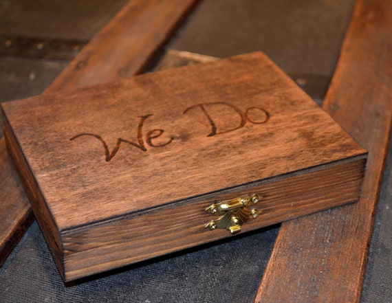 We Do Couples Ring Box