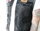 Leather Denim Patch Vest