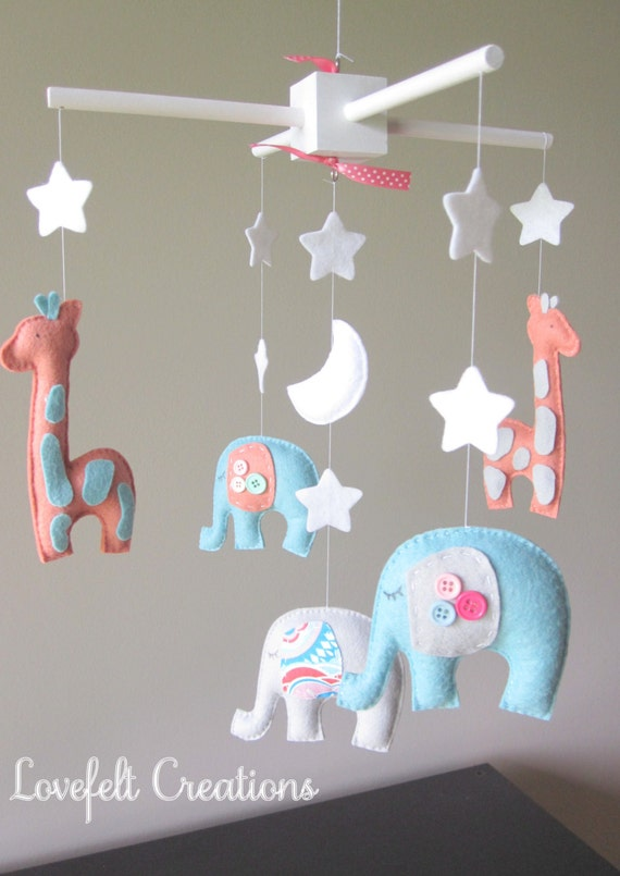 baby mobile elephant mobile nursery mobile by lovefeltmobiles