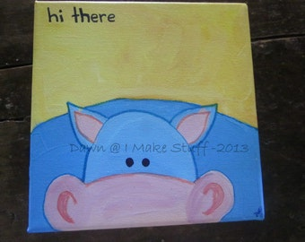 Peek-a-boo Animal - canvas painting